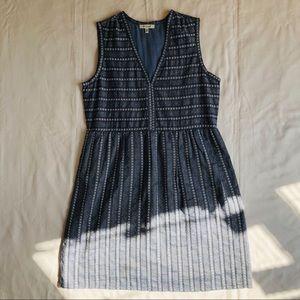 Max Studio Blue Chambray Sleeveless Dress S